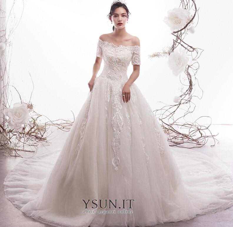 Vestiti Da Sposa Invernali.Abito Da Sposa Inverno Tipo Standard A Line Lace Coperta Naturale