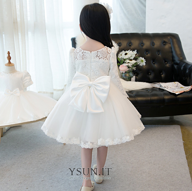 vasta selezione nuovo stile pacchetto alla moda e attraente Abito cerimonia bambina Fiocco Farfalla Ornamento Naturale ...