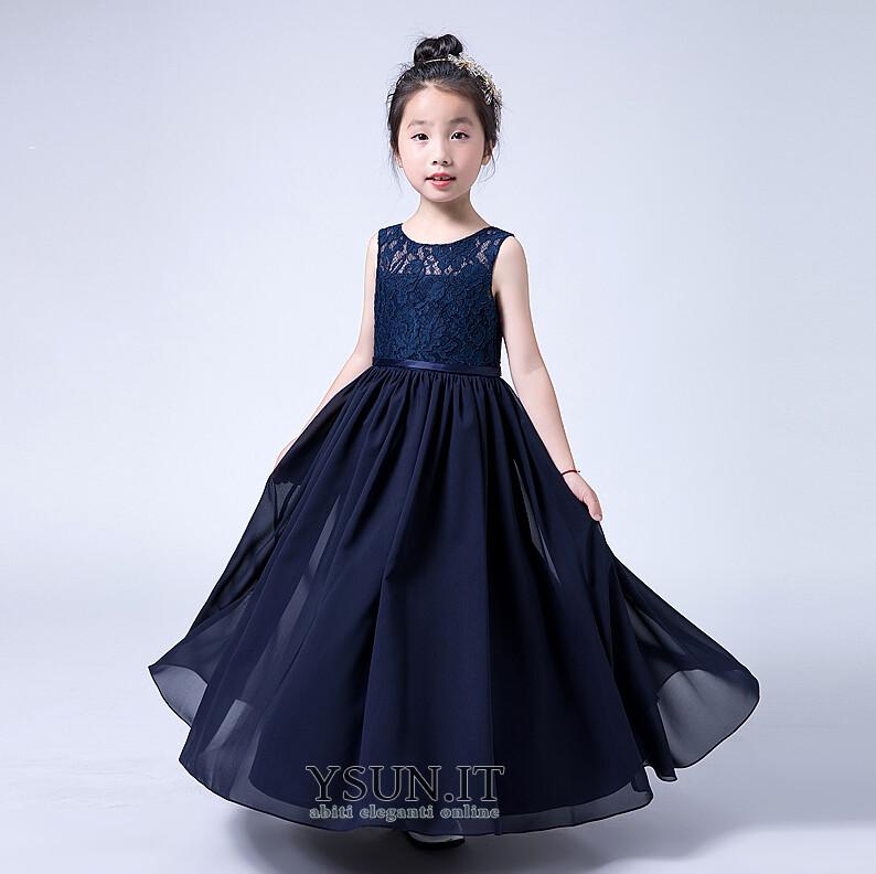 cheap for discount 0f0ea 4cbb2 Abito cerimonia bambina Alle Caviglie decorato Naturale ...