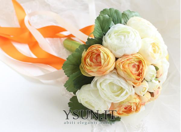 Bouquet Sposa Camelie.Le Spose Coreano Di Peonia Bianca A Mano Huashan Camelia