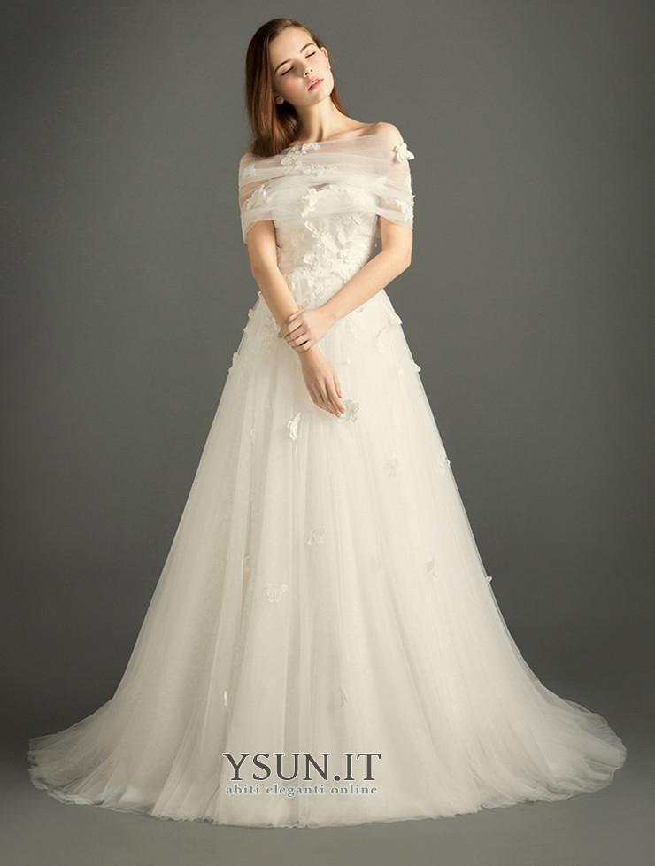 Abito da sposa Cerniera Cappella treno Farfalla Ornamento collo Sweetheart  - Pagina 1 ... 31c6e320cc6