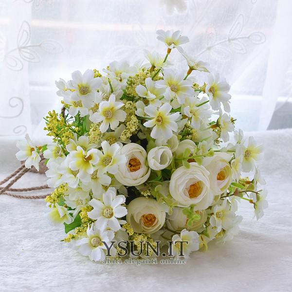 Bouquet Sposa Bianco E Verde.Fiori Di Te Verde E Bianco A Mano Bouquet Spose Coreano Sposate