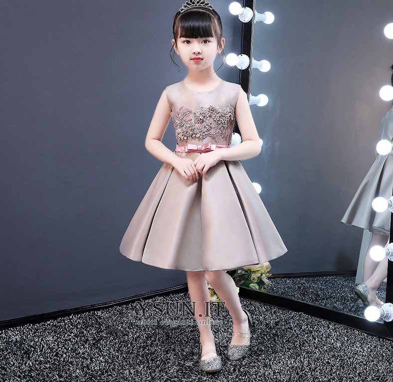 quality design ff081 92560 Abito cerimonia bambina Fiore al ginocchio Cerniera Non ...