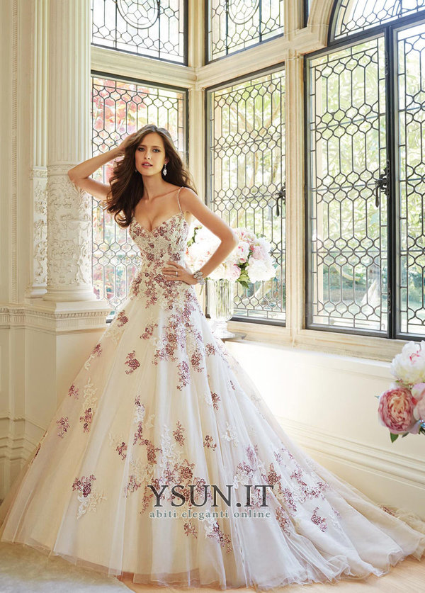 32a387aa2f43 Abito da sposa Cinghia Ball Gown Ricami Pizzo francese Allacciato - Pagina  1 ...