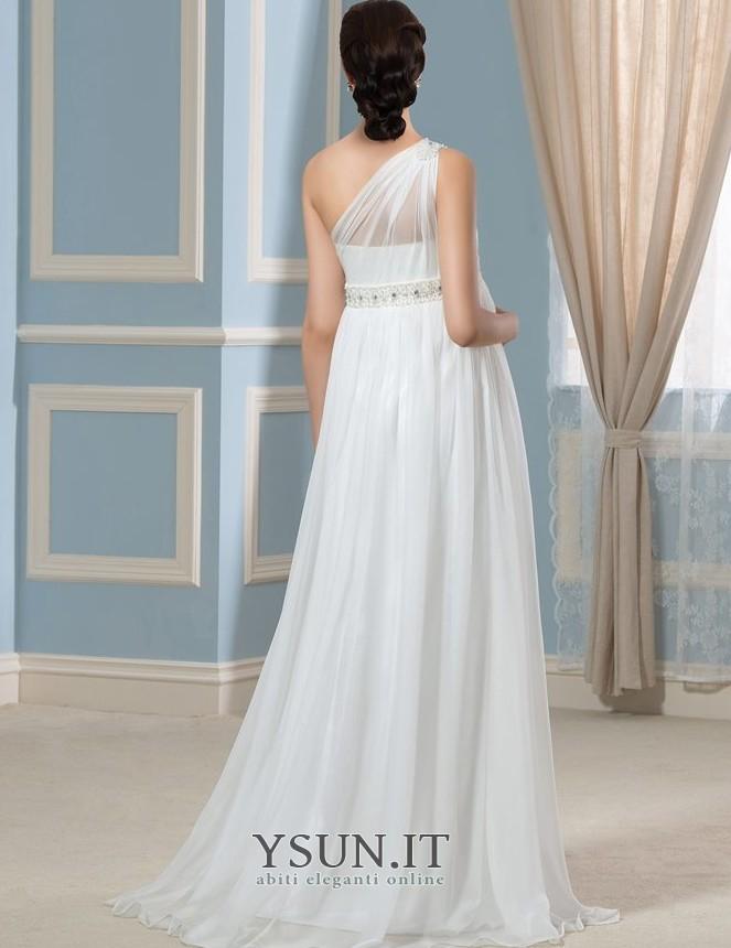 Comprare Abiti Eleganti Online.Abito Da Sposa Eleganti Primavera Monospalla Chiffon Alta Vita