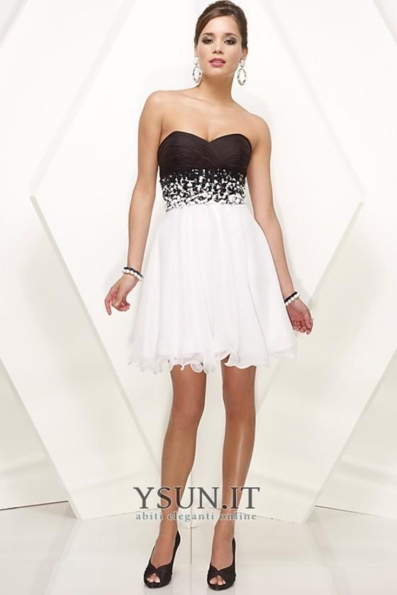 nuovo stile ec3d3 02445 Vestiti 18 anni Bianco Naturale Corti paillettes Cuore Mezza ...