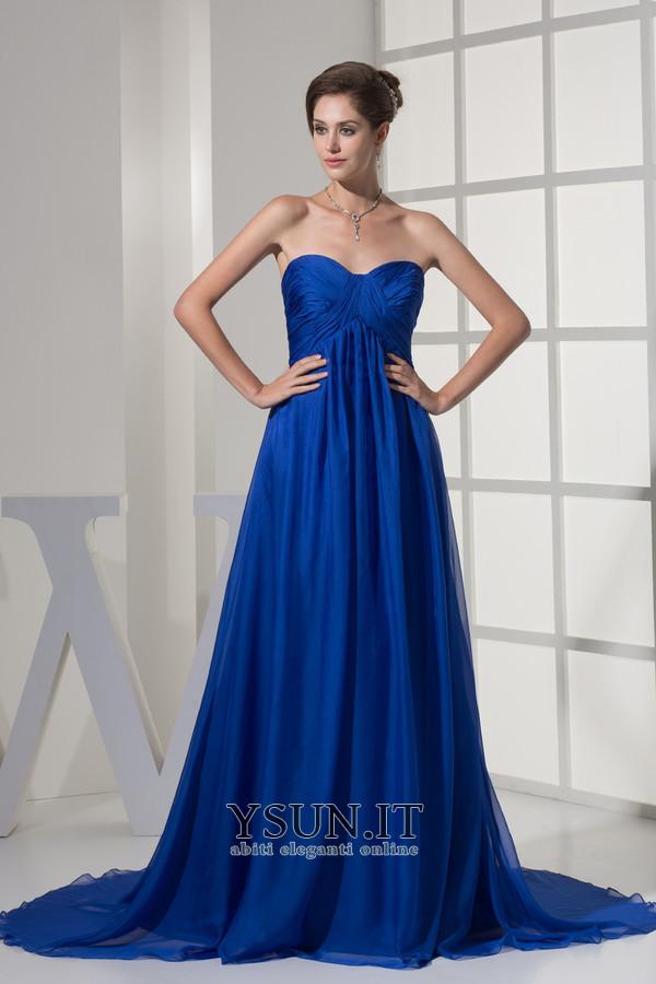 b44f173c4606 Vestito blu Semplici Chiffon Una linea pavimento lunghezza Non Specificato  - Pagina 1 ...