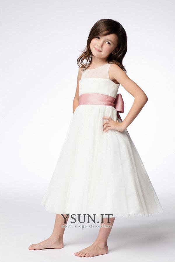06c9d59960f3 Abito cerimonia bambina decorato A-Line All Aperto Naturale abbondante  Farfalla Ornamento - Pagina 1 ...